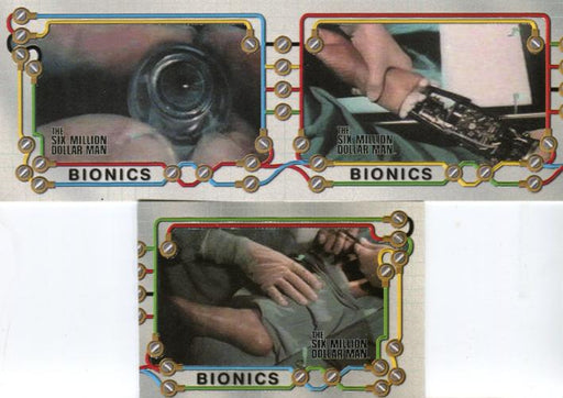 Six Million Dollar Man 1 & 2 Bionics Chase Card Set 3 Cards   - TvMovieCards.com