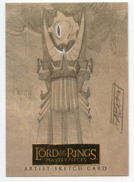 Lord of the Rings Masterpieces Sketch Card by Davide Fabbri Eye of Sauron   - TvMovieCards.com