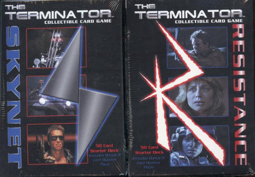 The Terminator CCG Starter Game Card Theme Decks 1 Resistance and 1 Skynet   - TvMovieCards.com