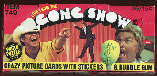 1977 Fleer The Gong Show Bubble Gum Vintage Card Box 36 Sealed Packs   - TvMovieCards.com