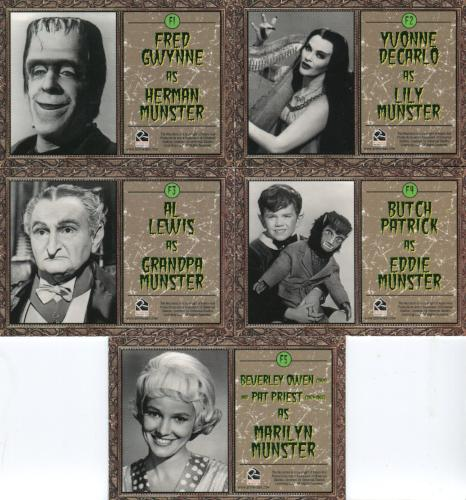 Munsters (2005) Family Album Cast Chase Card Set 5 Cards   - TvMovieCards.com