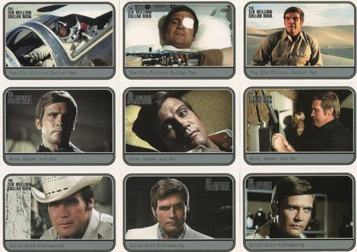 Six Million Dollar Man 1 & 2 The Movies Chase Card Set 9 Cards   - TvMovieCards.com