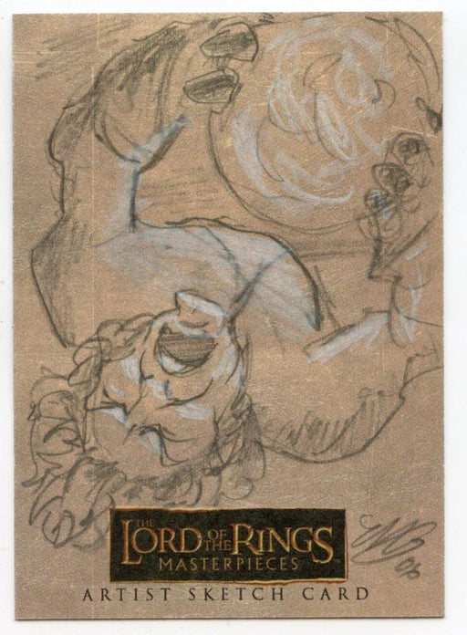 Lord of the Rings Masterpieces Sketch Card by Matthew Goodmanson Pippen   - TvMovieCards.com