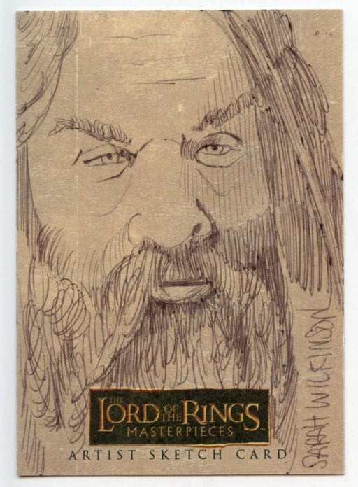 Lord of the Rings Masterpieces Sketch Card by Sarah Wilkinson Gilmi   - TvMovieCards.com