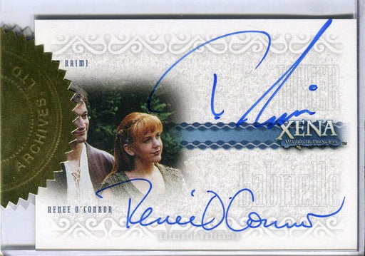Xena Art & Images Ted Raime Renee O'Connor Incentive Double Autograph Card DA7   - TvMovieCards.com