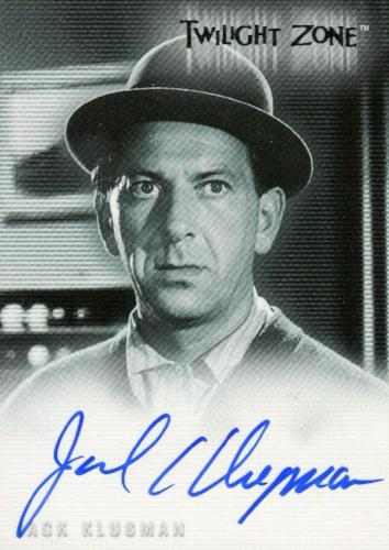 Twilight Zone 3 Shadows and Substance Jack Klugman Autograph Card A-43 Front
