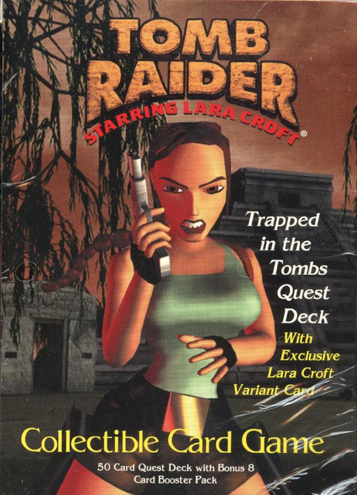 Tomb Raider CCG Starter Game Card Theme Deck Trapped in the Tombs Quest   - TvMovieCards.com