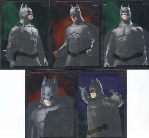 Batman Begins Movie Embossed Foil Chase Card Set 5 Cards Topps 2005