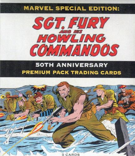 Sgt. Fury and His Howling Commandos 50th Anniversary Premium Packs Card Pack Front