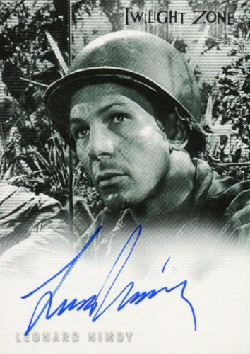 Twilight Zone 3 Shadows and Substance Leonard Nimoy Autograph Card A-44 Front