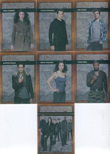 Continuum Seasons 1 & 2 Stars Chase Card Set Front