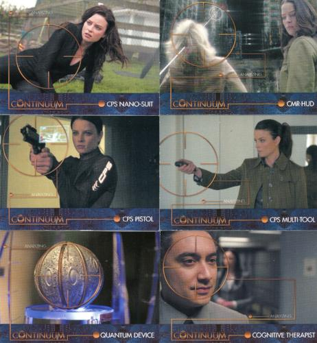 Continuum Seasons 1 & 2 Future Tech Chase Card Set 6 Cards T1 -T6   - TvMovieCards.com