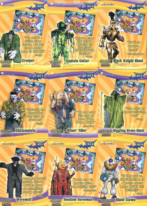 Scooby Doo 2 Monsters Unleashed Foil Puzzle Chase Card Set Mu 1 Thru M Tvmoviecards Com
