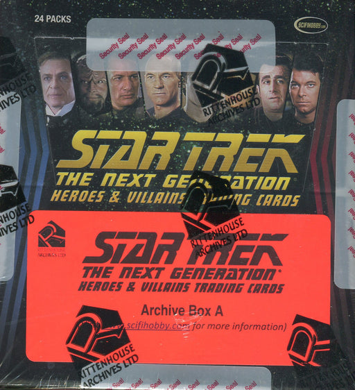 Star Trek The Next Generation TNG Heroes & Villains Archive Card Box   - TvMovieCards.com