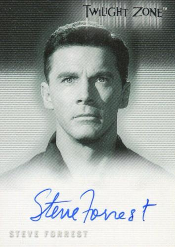 Twilight Zone 3 Shadows and Substance Steve Forrest Autograph Card A-55   - TvMovieCards.com