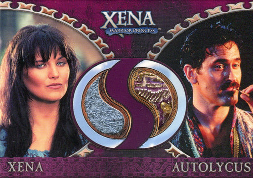 Xena Dangerous Liaisons Xena and Autolycus Double Costume Card DC8   - TvMovieCards.com