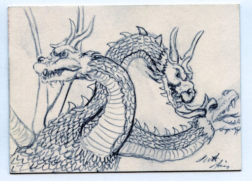 GODZILLA: KING OF THE MONSTERS Sketch Card by Matt Harris King Ghidorah   - TvMovieCards.com
