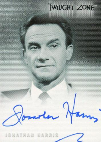 Twilight Zone 3 Shadows and Substance Jonathan Harris Autograph Card A-56 Front