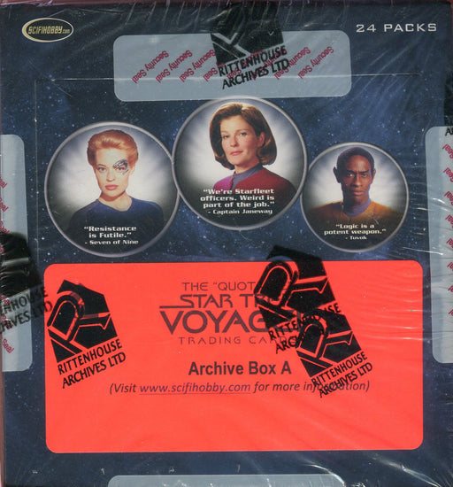 Star Trek The Quotable Voyager Archive Card Box   - TvMovieCards.com