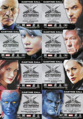 X-Men: The Last Stand Movie Casting Call Chase Card Set 16 Cards   - TvMovieCards.com