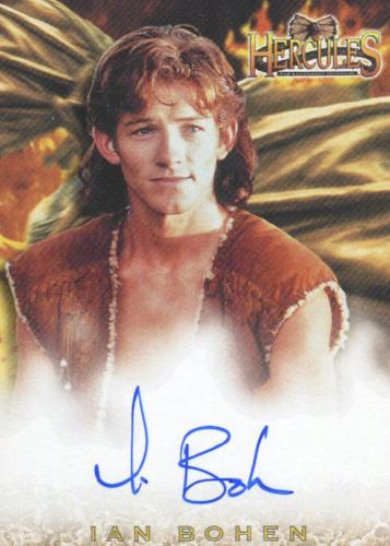 Hercules The Complete Journeys Ian Bohen as Young Hercules Autograph Card A7   - TvMovieCards.com