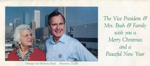 Official 1987 Bush Family Christmas Card Vice President George Bush & Family   - TvMovieCards.com