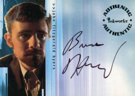 X-Files Seasons 4 & 5 Bruce Harwood as John Fitzgerald Byers Autograph Card a2   - TvMovieCards.com