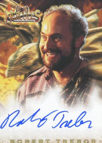 Hercules The Complete Journeys Robert Trebor as Salmoneus Autograph Card A8   - TvMovieCards.com