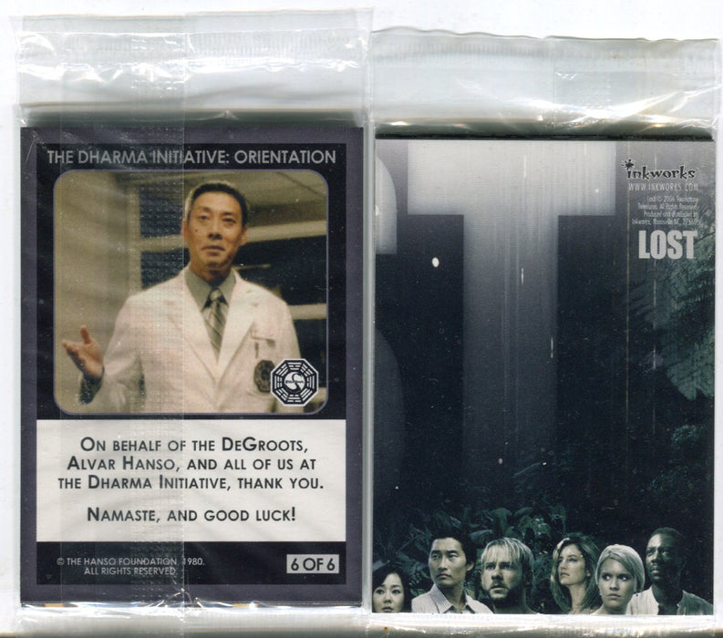 Inkworks Lost Dharma Initiative Preview Set (6) Card Set San Diego Comic Con   - TvMovieCards.com