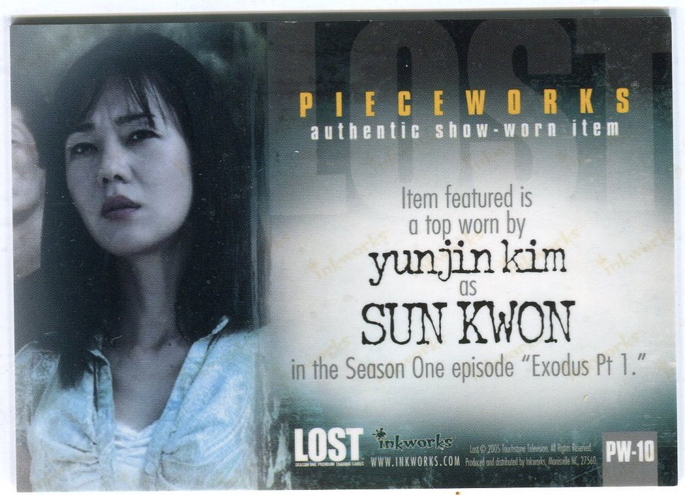 Lost Season 1 One PW-10 Yunjin Kim as Sun Kwon Pieceworks Costume Card Variant   - TvMovieCards.com