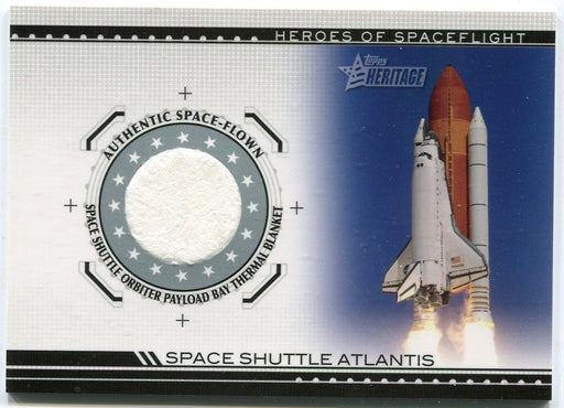 American Heritage Heroes HSFR-SSA7 Atlantis Space Shuttle Thermal Blanket Card   - TvMovieCards.com