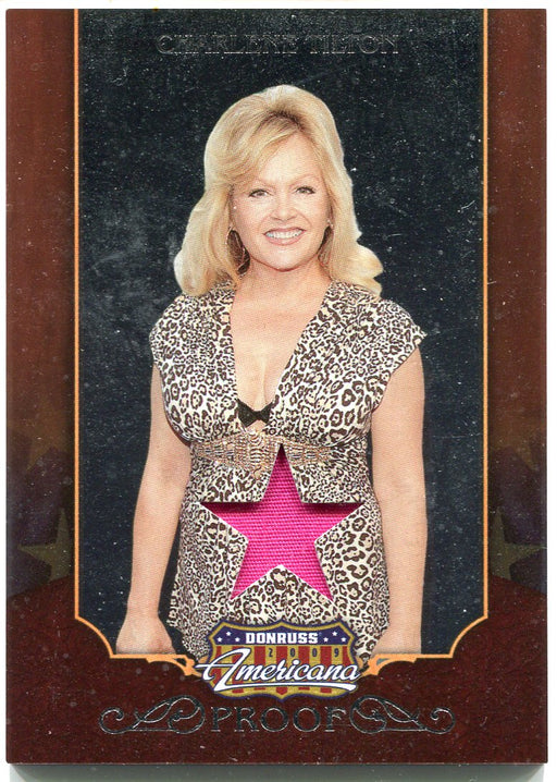 2009 Donruss Americana Silver Proof Materials Charlene Tilton #8 Costume Card   - TvMovieCards.com