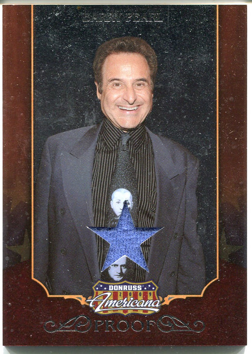 2009 Donruss Americana Silver Proof Materials Barry Pearl #11 Costume Card   - TvMovieCards.com