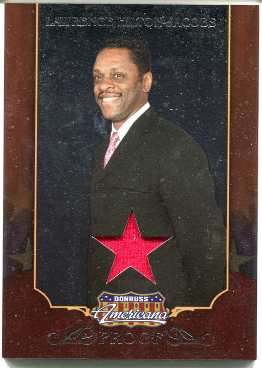 2009 Donruss Americana Silver Proof Lawrence Hilton-Jacobs #15 Costume Card   - TvMovieCards.com