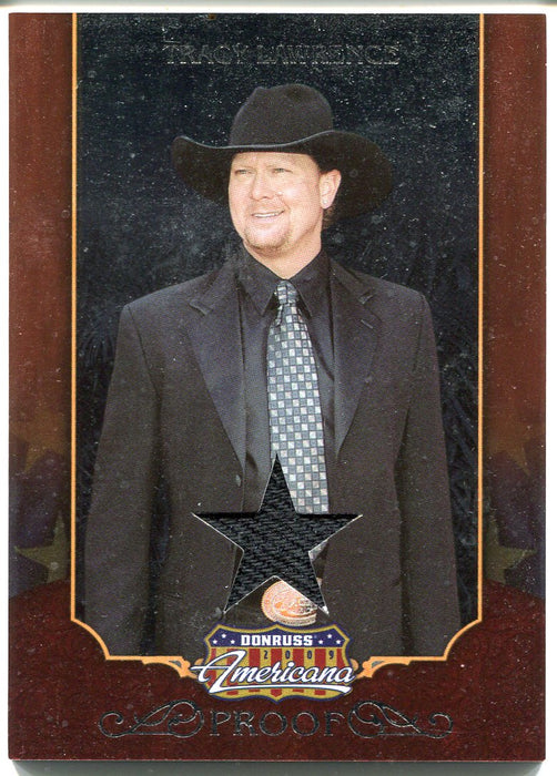 2009 Donruss Americana Silver Proof Tracy Lawrence #47 Costume Card   - TvMovieCards.com