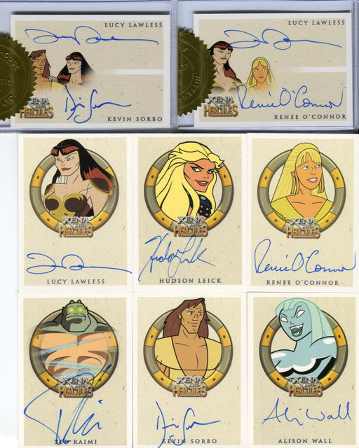 Xena & Hercules Animated Adventures Autograph Card Set 31 Cards   - TvMovieCards.com