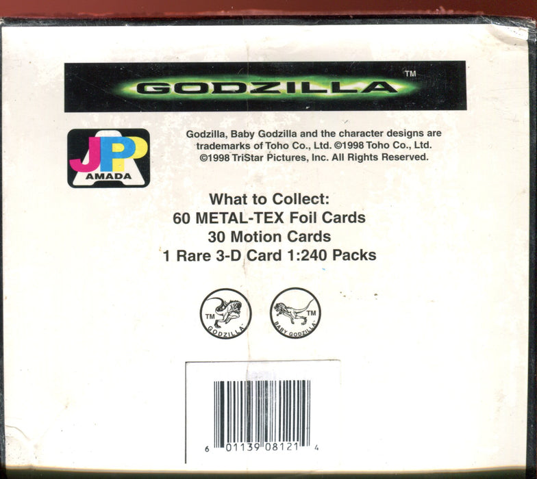 Godzilla The Movie Premium Trading Card Box 24 Packs JPP/Amada 1996   - TvMovieCards.com