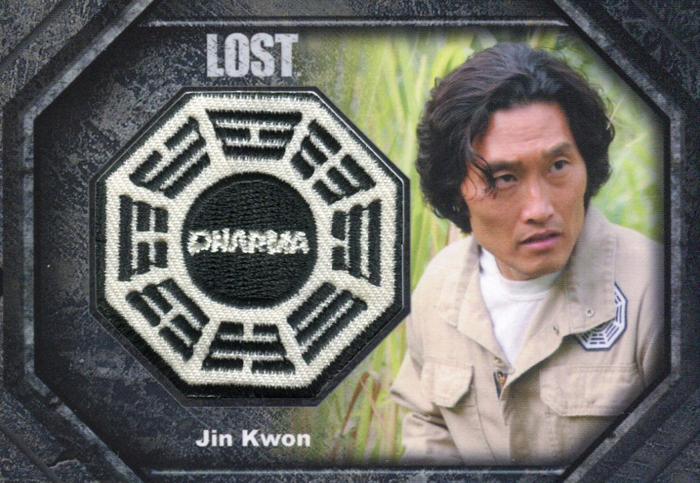Lost Archives 2010 Dharma Patch Costume Card DP8 Daniel Dae Kim as Jin Kwon   - TvMovieCards.com