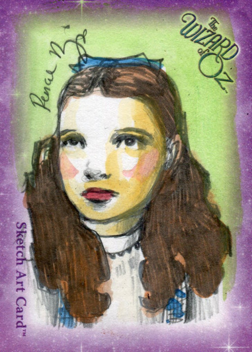 "Wizard of Oz Sketch Card by Renae De Liz Color ""Dorothy"" Breygent 2006   - TvMovieCards.com"