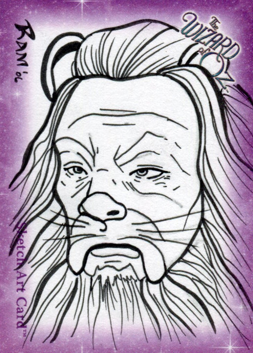 "Wizard of Oz Sketch Card by Rich A. Molinelli ""Cowardly Lion"" Breygent 2006   - TvMovieCards.com"