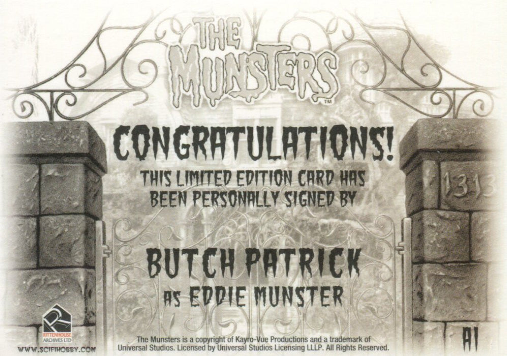 Munsters (2005) Butch Patrick as Eddie Munster Autograph Card A1   - TvMovieCards.com