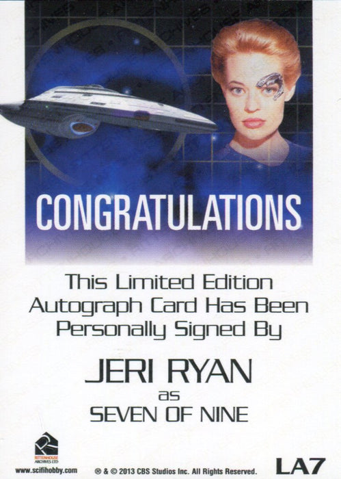 Star Trek Women of 50th Anniversary Jeri Ryan as Seven of Nine Autograph Card   - TvMovieCards.com