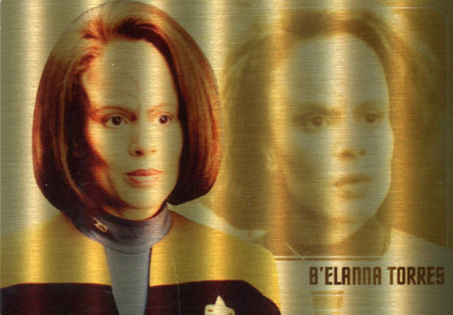 Star Trek Women of 50th Anniversary B'Elanna Torres Gold Metal Chase Card WS15   - TvMovieCards.com