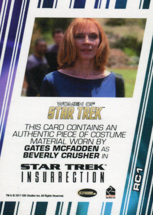 Star Trek Insurrection Skybox Beverly Crusher Costume Card   - TvMovieCards.com