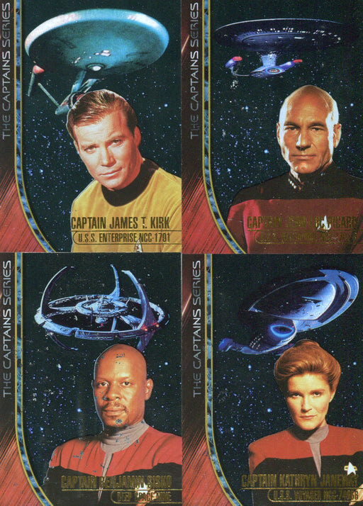 Star Trek The Captains LIMITED Chase Card Set Skybox 1998 4 Cards   - TvMovieCards.com