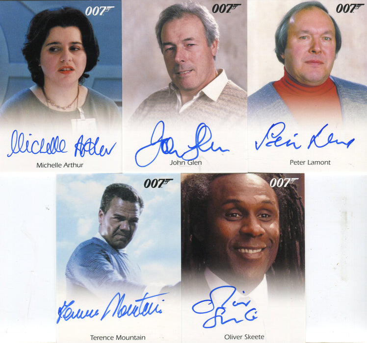 James Bond Archives 2014 Edition Autograph Card Lot 5 Cards   - TvMovieCards.com