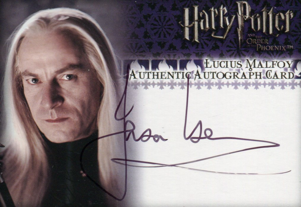 Harry Potter Order of the Phoenix Jason Isaacs as Lucius Malfoy Autograph Card   - TvMovieCards.com