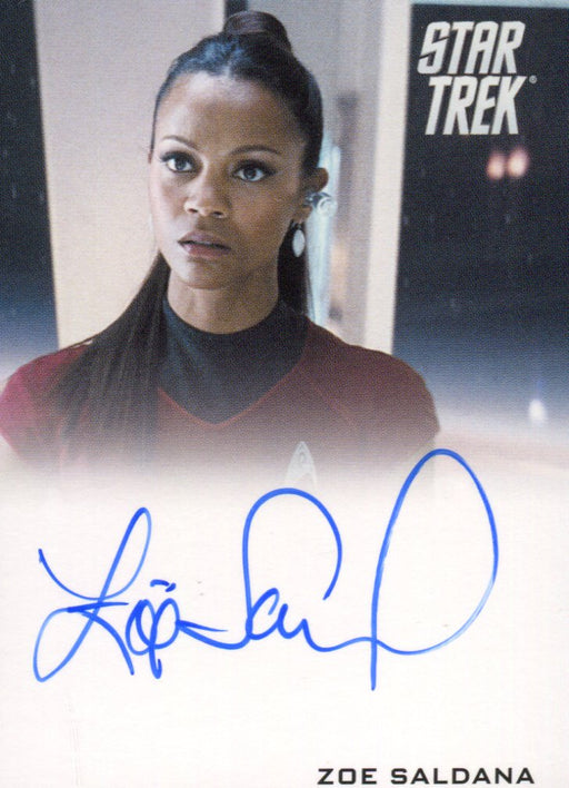 Star Trek The Movie 2009 Zoe Saldana as Uhura Limited Autograph Card   - TvMovieCards.com