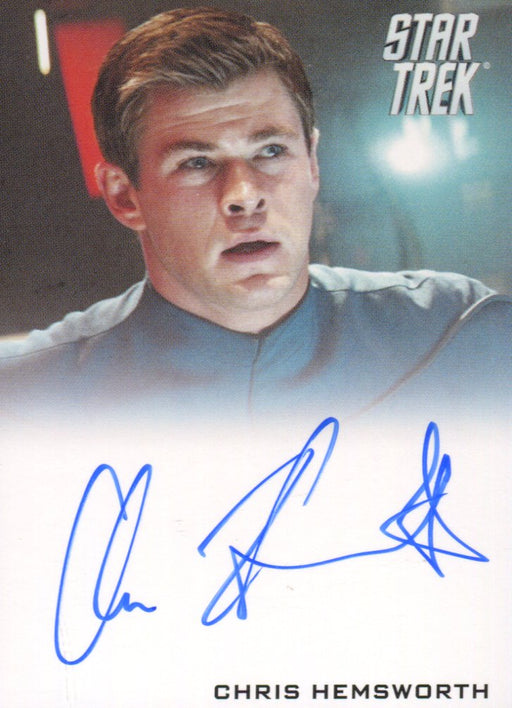 Star Trek The Movie 2009 Chris Hemsworth as George Kirk Limited Autograph Card   - TvMovieCards.com
