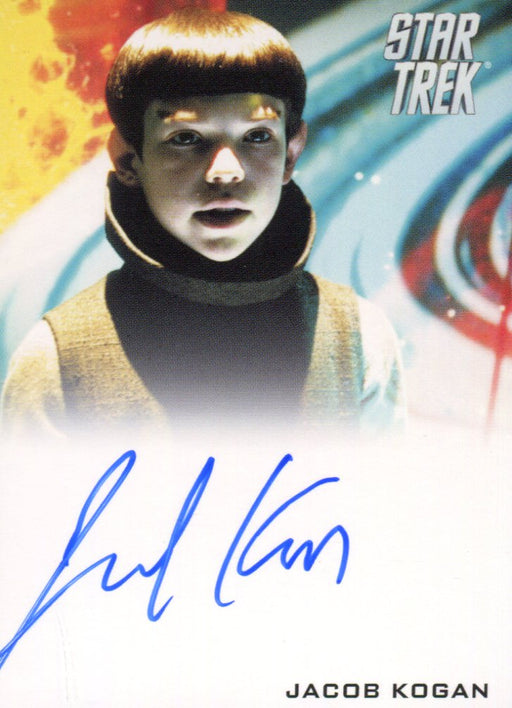 Star Trek The Movie 2009 Jacob Kogan as Young Spock Limited Autograph Card   - TvMovieCards.com
